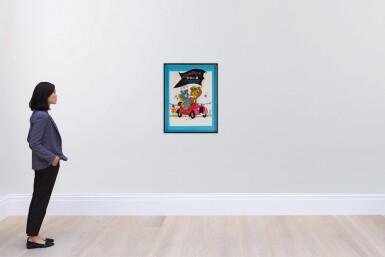 HEY THERE, IT'S YOGI BEAR (1964) ORIGINAL ARTWORK, FRENCH