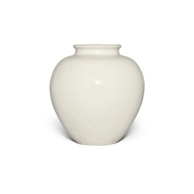 View 1. Thumbnail of Lot 98. A white-glazed pottery ovoid jar, Tang dynasty | 唐 白釉罐.