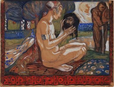 View 1. Thumbnail of Lot 45. Salomé mit dem Haupt des Johannes (Salomé with the Head of John) .