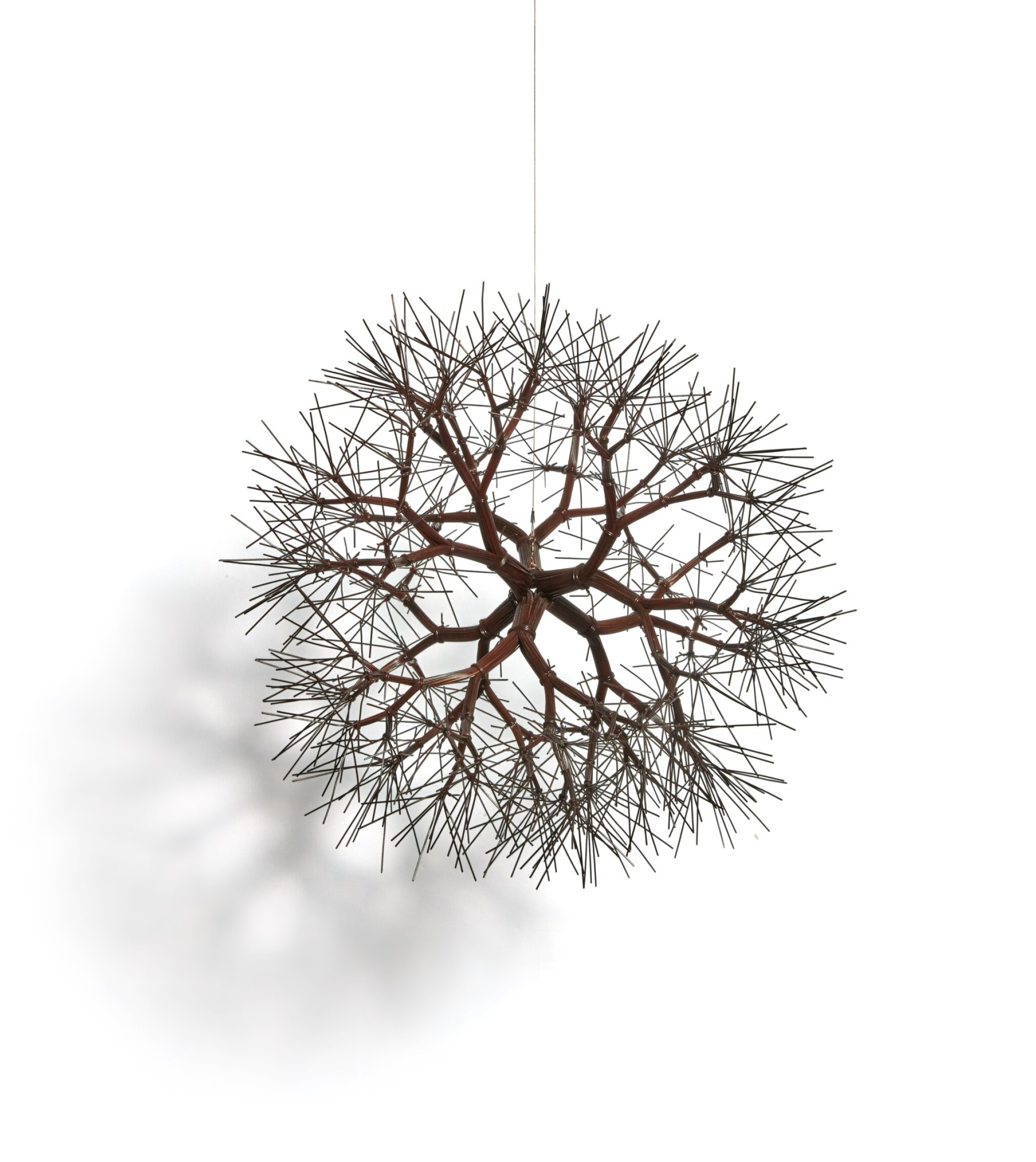 View full screen - View 1 of Lot 301. Untitled (S.653, Hanging Tied-Wire, Double-Sided, Center-Tied, Six-Branched Form Based on Nature).