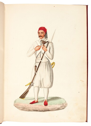 View 3. Thumbnail of Lot 82. EGYPT | Album of seventy six watercolours of Egyptian costume and views, 19th century.