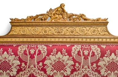 View 4. Thumbnail of Lot 147. A LOUIS XVI CARVED GILTWOOD LIT À LA ROMAINE, ATTRIBUTED TO GEORGES JACOB (1739-1814), CIRCA 1780.