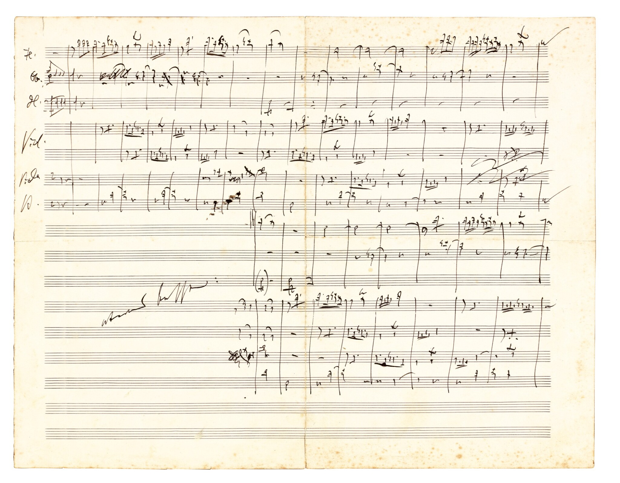 View 1 of Lot 10. J. Brahms. The correspondence with Ernst Rudorff, 16 letters with replies, and an autograph music manuscript 1865-1887.