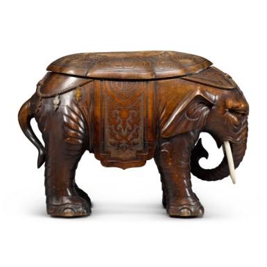 View 2. Thumbnail of Lot 26. Gustave Keller, 1881-1922 | Elephant-form Bidet.