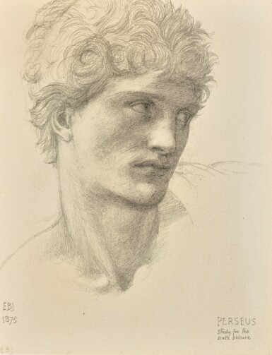 View 1. Thumbnail of Lot 10. SIR EDWARD COLEY BURNE-JONES, BT., A.R.A., R.W.S. | STUDY FOR THE HEAD OF PERSEUS IN THE ROCK OF DOOM.