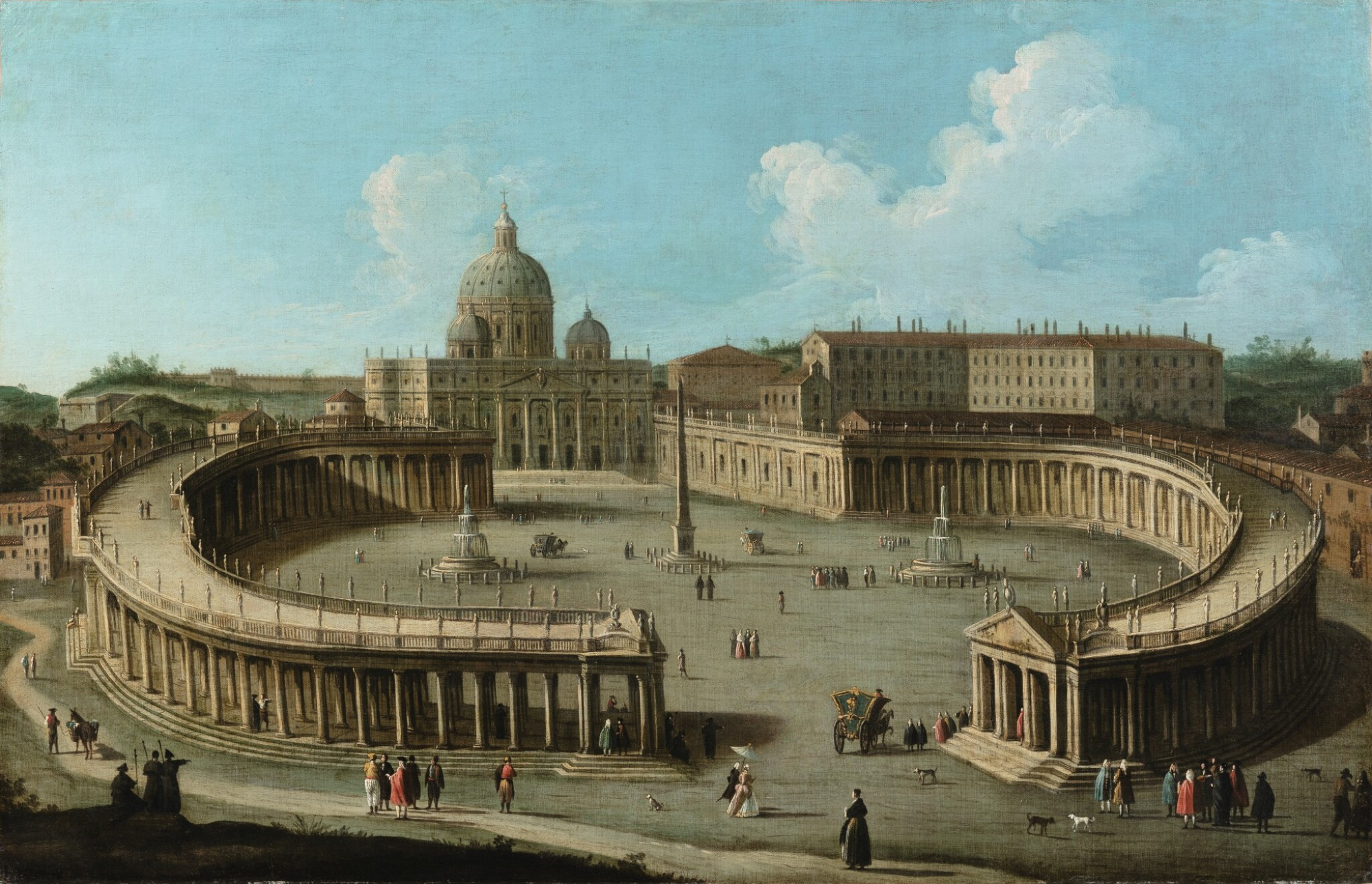 View full screen - View 1 of Lot 58. A view of San Pietro di Roma and the colonnade.