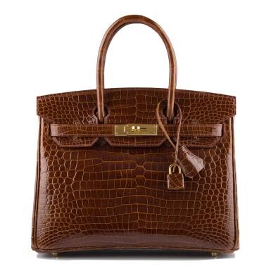 Hermès Miel Shiny Porosus Crocodile Birkin 30cm Gold Hardware