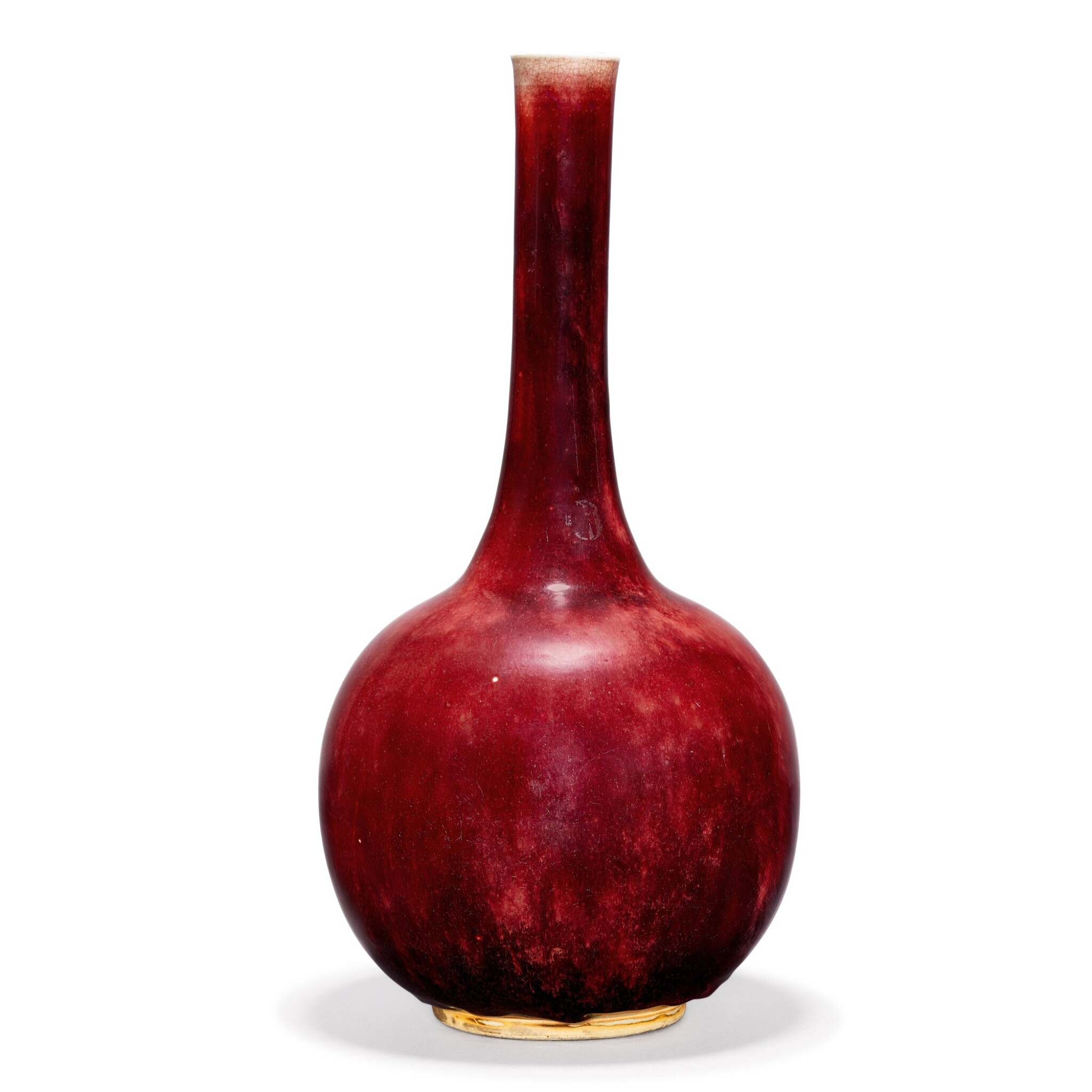 View full screen - View 1 of Lot 112. A LARGE LANGYAO BOTTLE VASE QING DYNASTY, KANGXI PERIOD | 清康熙 郎窰紅釉長頸瓶.