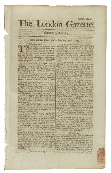 """View 3. Thumbnail of Lot 24. THE BOSTON PORT BILL 