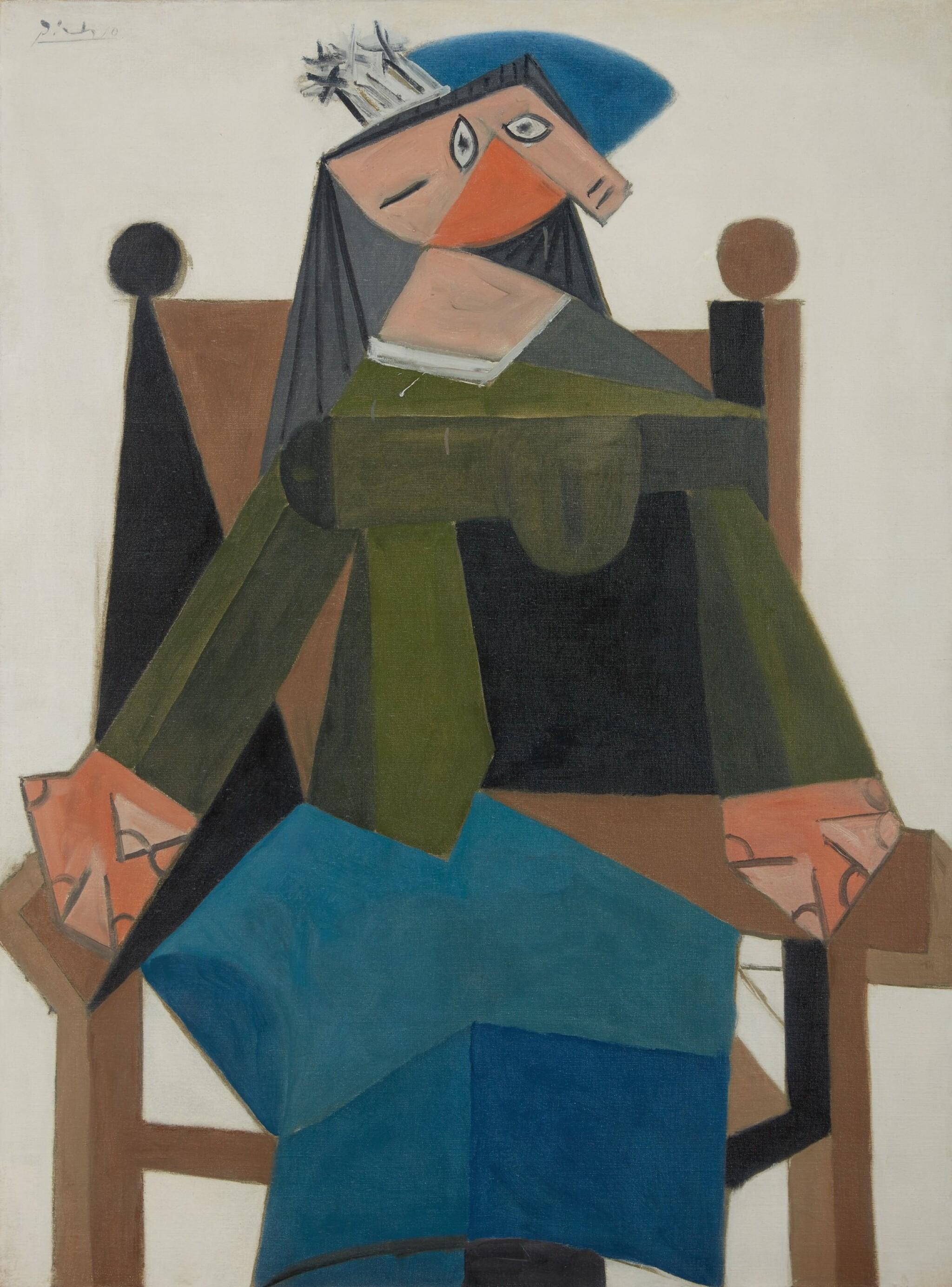 View full screen - View 1 of Lot 120. Femme assise dans un fauteuil |《扶手椅上的女子坐像》.