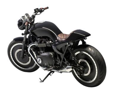 View 4. Thumbnail of Lot 2. Berluti   Triumph Motorcycle, Helmet and Boots (Moto Triumph, Casque et Bottines) [3 Items / Articles].