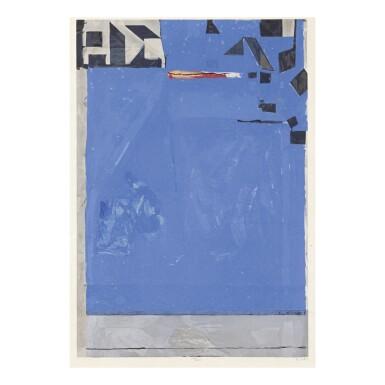 RICHARD DIEBENKORN | BLUE WITH RED