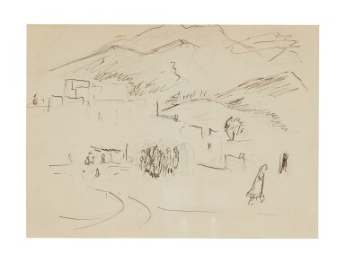 View 3. Thumbnail of Lot 80. Untitled [Double-Sided Drawing].