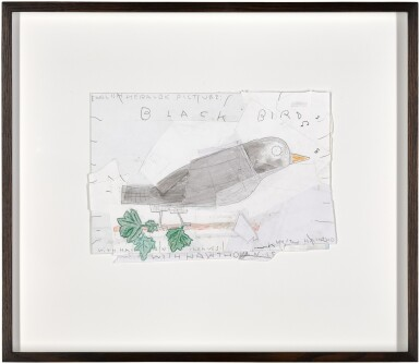 View 2. Thumbnail of Lot 179. Black Bird with Hawthorn Leaves.