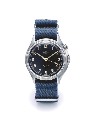 LEMANIA | TG 195 INCABLOC,  A STAINLESS STEEL HACKING SECONDS WRISTWATCH MADE FOR THE SWEDISH MILITARY CIRCA 1955