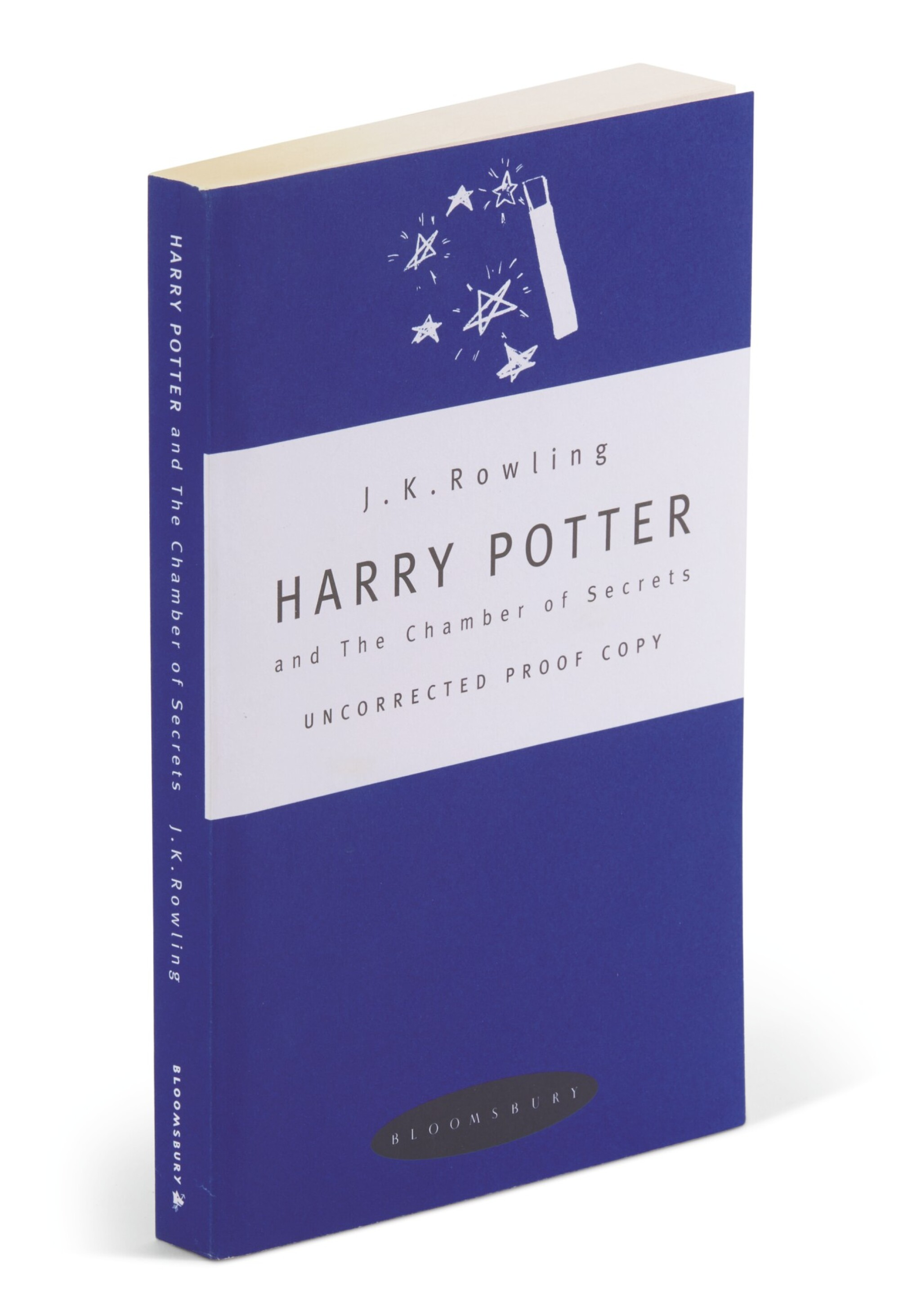 View full screen - View 1 of Lot 277.  Rowling, Harry Potter and the Chamber of Secrets, 1998, uncorrected proof copy.