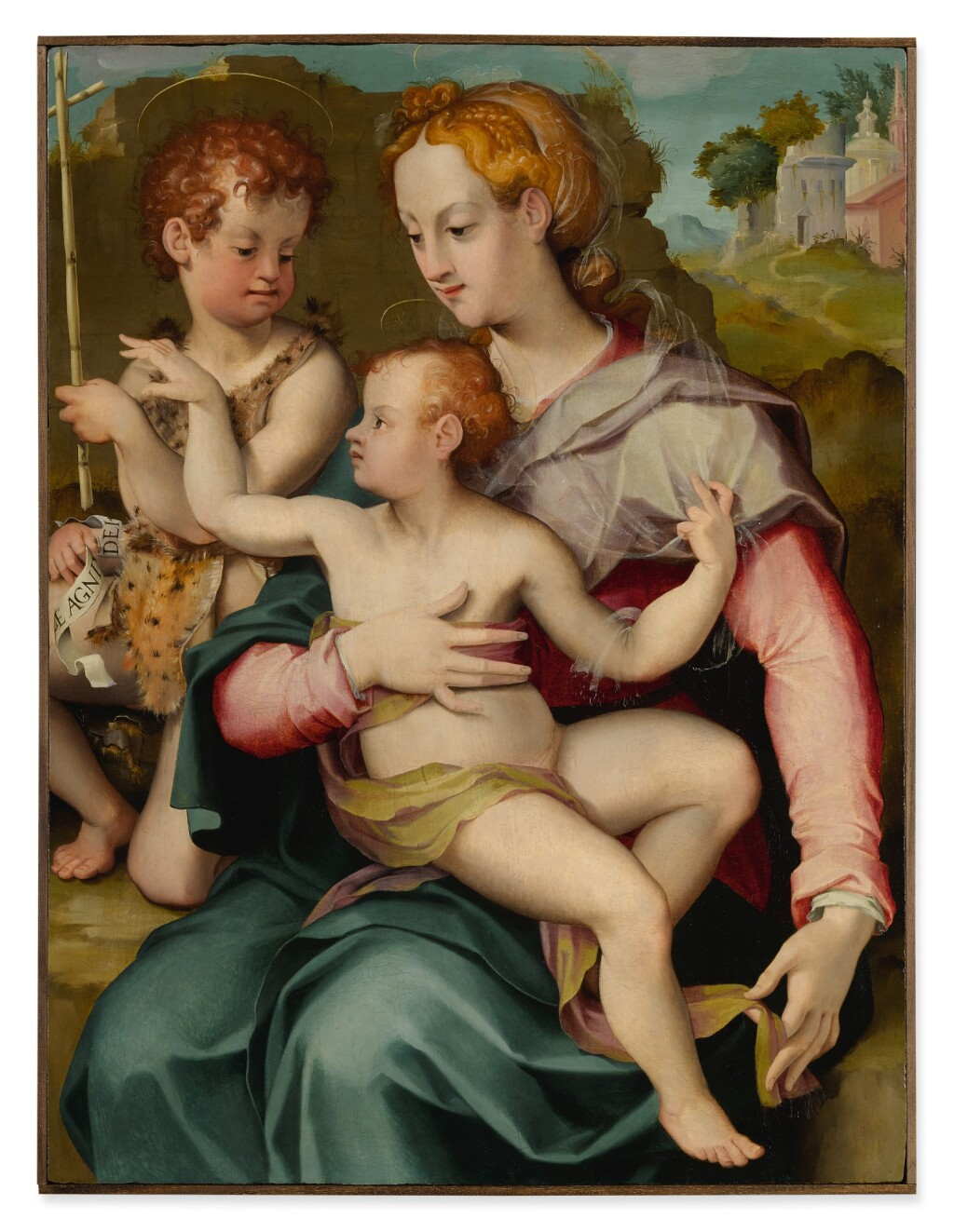 CARLO PORTELLI | MADONNA AND CHILD WITH THE INFANT SAINT JOHN THE BAPTIST