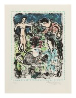 MARC CHAGALL | COUNTRY GATHERING (M. 1042)
