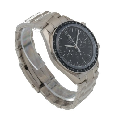 View 3. Thumbnail of Lot 372. 50TH ANNIVERSARY SPEEDMASTER, REF 311.63.42.50.01.003 LIMITED EDITION WHITE GOLD CHRONOGRAPH WRISTWATCH WITH BRACELET CIRCA 2007.