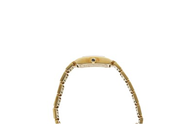 View 6. Thumbnail of Lot 84. REFERENCE 2385 TANK FRANCAISE A YELLOW GOLD RECTANGULAR BRACELET WATCH, CIRCA 1999.