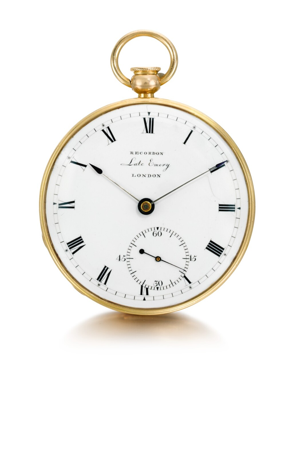 RECORDON, LATE EMERY, LONDON | A PINK GOLD OPEN-FACED DUMB QUARTER REPEATING WATCH  1806, NO. 8932