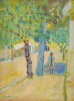 Personnage sous un arbre