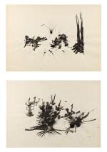 Henri Michaux  Trois grandes tâches, Passion végétale [2 oeuvres]