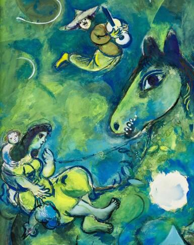 View 3. Thumbnail of Lot 1028. Marc Chagall 馬克・夏加爾   Le cheval à la lune 駿馬奔月.