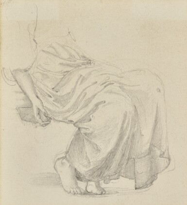 SIR EDWARD COLEY BURNE-JONES, BT., A.R.A., R.W.S. | STUDY FOR THE GARDEN COURT