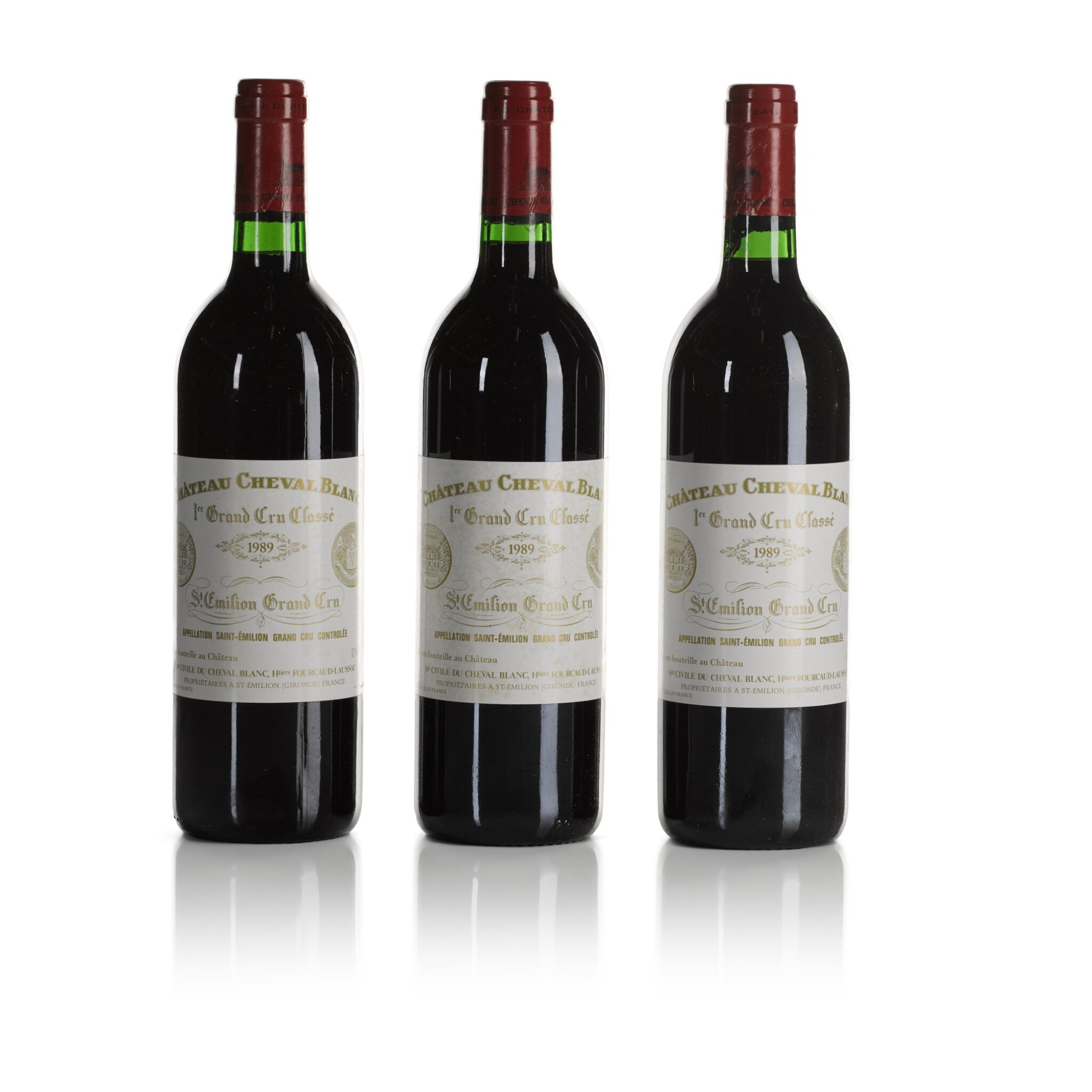 View full screen - View 1 of Lot 276. Château Cheval Blanc 1989  (12 BT).
