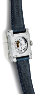 VIANNEY HALTER AND GOLDPFEIL | REFERENCE GPVH, A WHITE GOLD JUMPING HOUR WRISTWATCH WITH MOON PHASES, CIRCA 2002