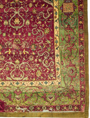 View 6. Thumbnail of Lot 138. A Safavid Niche Rug, Central Persia, mid-16th century.