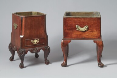 View 2. Thumbnail of Lot 520. A GEORGE II MAHOGANY JARDINIÈRE, 18TH CENTURY, TOGETHER WITH AN ANGLO-DUTCH MAHOGANY JARDINIÈRE, 19TH CENTURY.