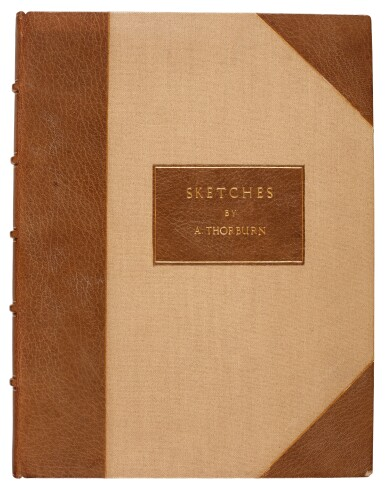 View 9. Thumbnail of Lot 33. Archibald Thorburn | An album containing eight original drawings of birds of prey.