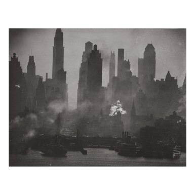 ANDREAS FEININGER | 'MIDTOWN MANHATTAN OPPOSITE W 42ND STREET, NEW YORK' (AS VIEWED FROM WEEHAWKEN)