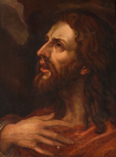 FOLLOWER OF REMBRANDT HARMENSZ. VAN RIJN | Head of Christ