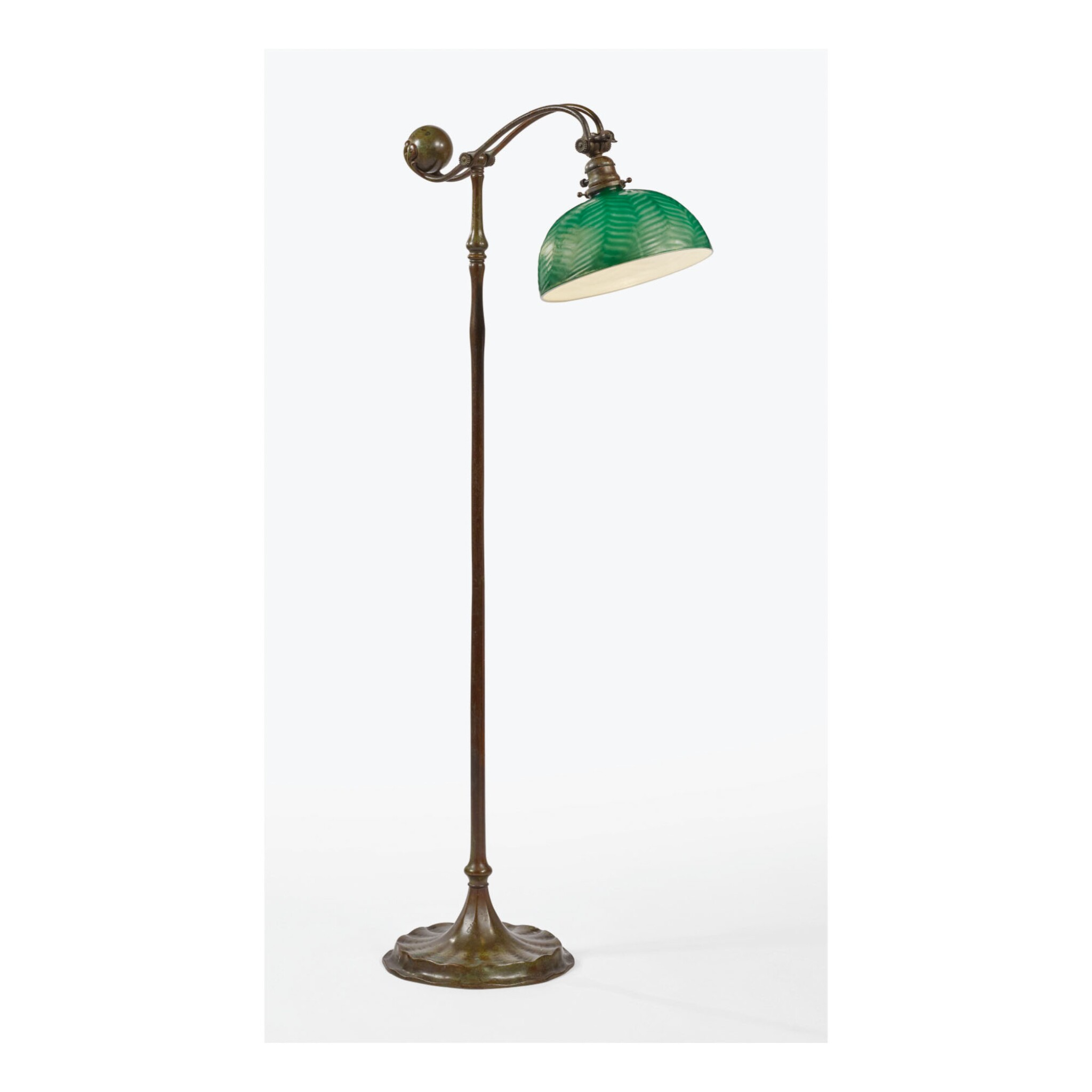 View 1 of Lot 22. TIFFANY STUDIOS | COUNTER-BALANCE FLOOR LAMP.