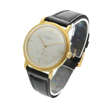 View 2. Thumbnail of Lot 239. Reference 3415  A yellow gold automatic wristwatch, Made in 1958.