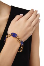 GOLD AND LAPIS LAZULI BRACELET, ALETTO BROTHERS