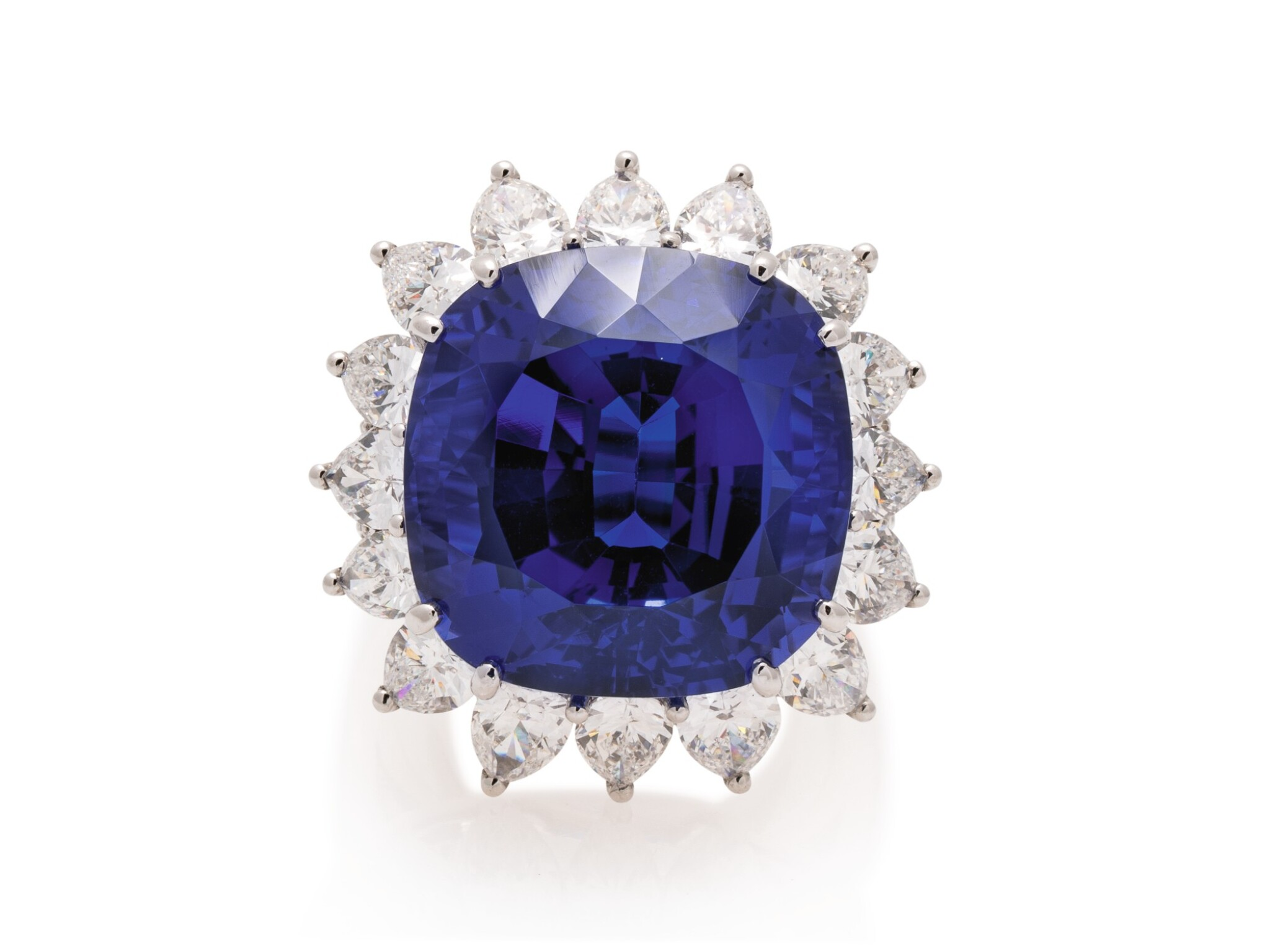 View full screen - View 1 of Lot 44. TIFFANY & CO. | TANZANITE AND DIAMOND RING.