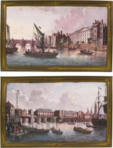 A PAIR OF RECTANGULAR PAINTED ENAMEL PLAQUES, LATE 19TH CENTURY