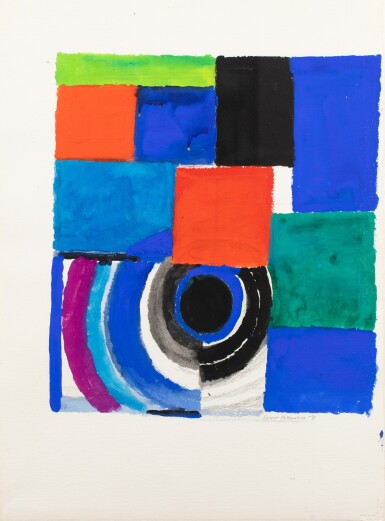 View 1. Thumbnail of Lot 11. SONIA DELAUNAY | RYTHME COULEUR.