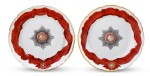 Two Porcelain Plates from the Service for the Imperial Order of St. Alexander Nevsky, Gardner Porcelain Factory, Verbilki, 1778-1780