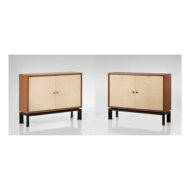 View 1. Thumbnail of Lot 175. PAUL DUPRÉ-LAFON | PAIR OF CHESTS OF DRAWERS .