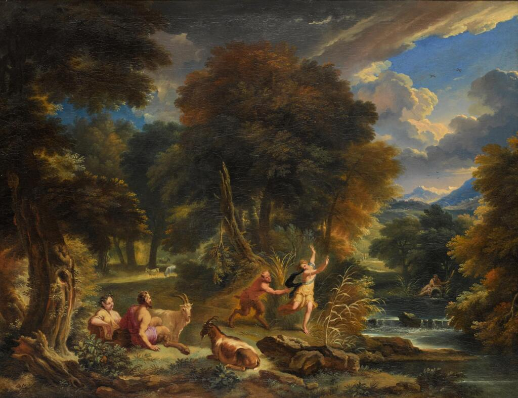 PIETER MULIER, CALLED CAVALIERE TEMPESTA | Pan and Syrinx in a river landscape