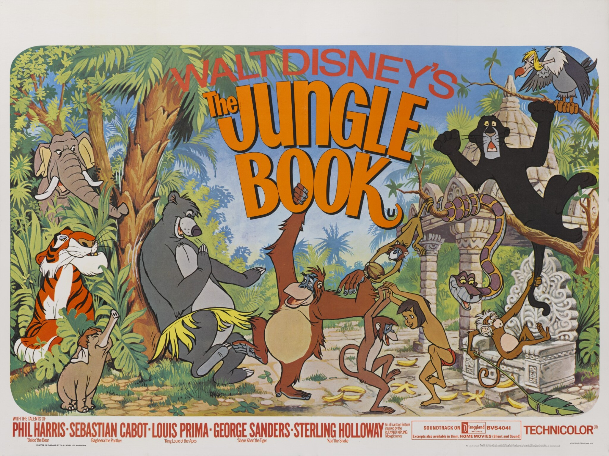 View full screen - View 1 of Lot 12. THE JUNGLE BOOK (1967) POSTER, BRITISH .