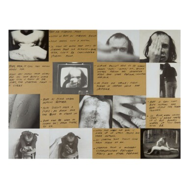 VITO ACCONCI   'NOTE-SHEET FOR POINT OF THE BODY'