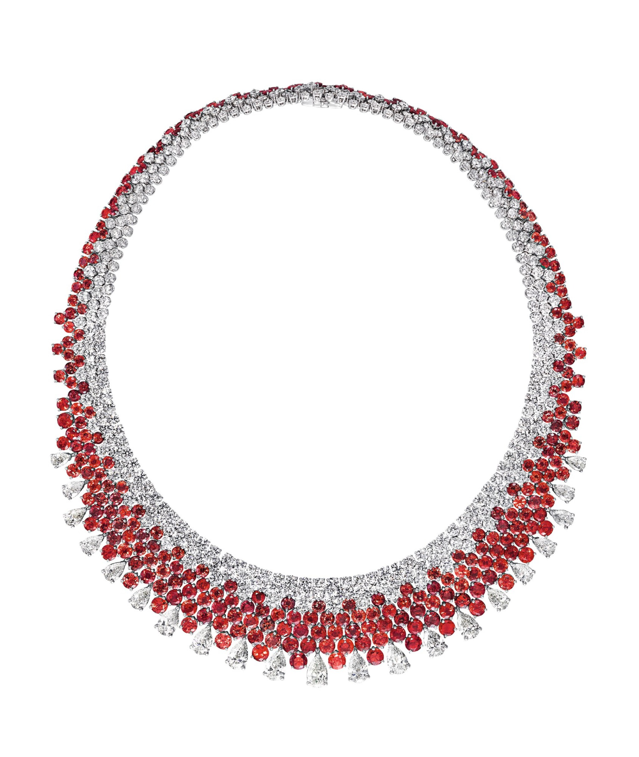 View full screen - View 1 of Lot 53. GRAFF | RUBY AND DIAMOND NECKLACE 格拉夫 | 紅寶石配鑽石項鏈.