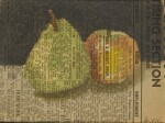 Green Pear and Red Apple