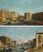 THE MASTER OF THE LANGMATT FOUNDATION VIEWS |  Venice, a view of the Grand Canal with the Rialto Bridge, looking south; and Venice, a view of the Grand Canal from the Campo di San Vio, with the Palazzo Barbarigo on the right and Palazzo Correr on the left, looking east